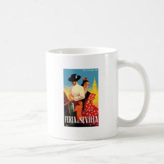 Spain 1961 Seville April Fair Poster Coffee Mug