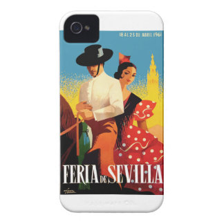 Spain 1961 Seville April Fair Poster iPhone 4 Case-Mate Cases