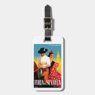 Spain 1961 Seville April Fair Poster Luggage Tag
