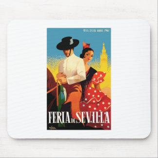 Spain 1961 Seville April Fair Poster Mouse Pad