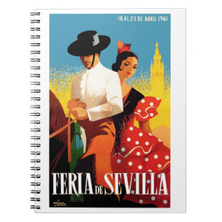 Spain 1961 Seville April Fair Poster Notebooks