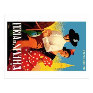 Spain 1961 Seville April Fair Poster Postcard