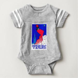 Spain 1964 Seville April Fair Poster Baby Bodysuit