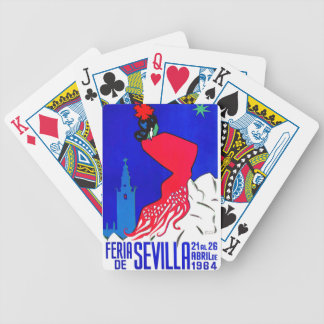 Spain 1964 Seville April Fair Poster Bicycle Playing Cards