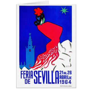 Spain 1964 Seville April Fair Poster Card