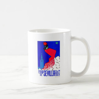 Spain 1964 Seville April Fair Poster Coffee Mug