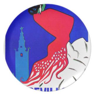 Spain 1964 Seville April Fair Poster Party Plate