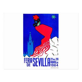 Spain 1964 Seville April Fair Poster Postcard