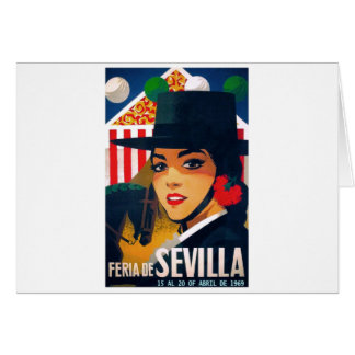 Spain 1969 Seville April Fair Poster Card