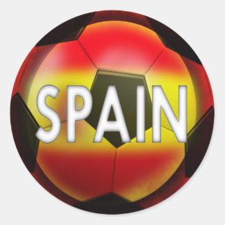 Spain:  #1 Futbol Team Classic Round Sticker