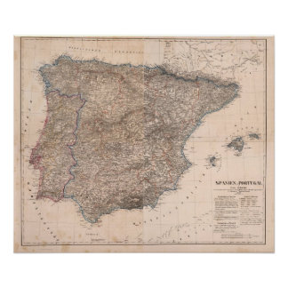 Spain and Portugal 8 Poster