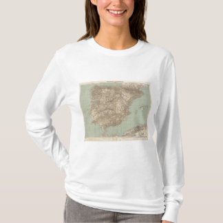 Spain And Portugal Atlas Map T-Shirt