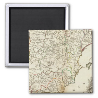 Spain and Portugal Postal Roads Square Magnet