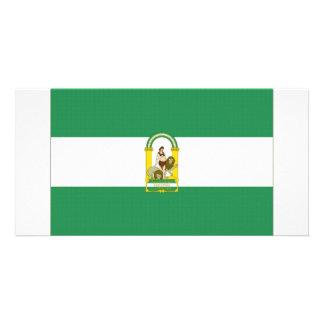 Spain Andalucia Flag Photo Greeting Card