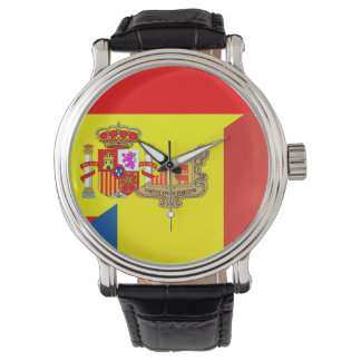spain andorra half flag country symbol watches