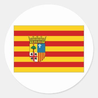 Spain Aragon Flag Classic Round Sticker