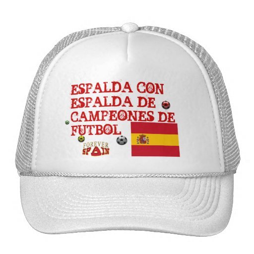 Spain Back to Back Soccer Champions Hat
