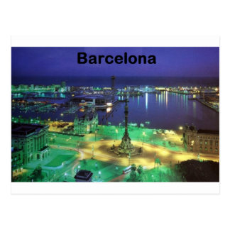 Spain Barcelona Night View (St.K) Postcard