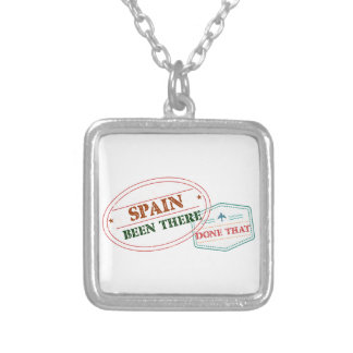Spain Been There Done That Silver Plated Necklace