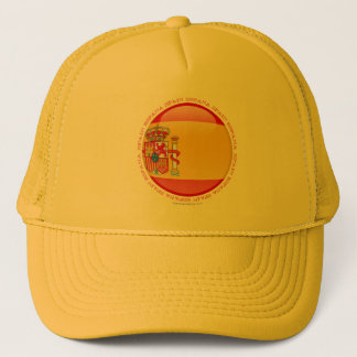Spain Bubble Flag Trucker Hat