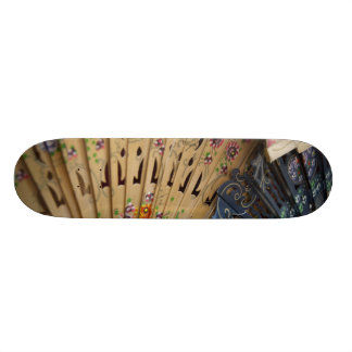 Spain, Cadiz Province, Seville. Historic Santa Skateboard