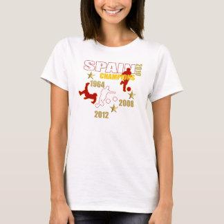 Spain Champions 1964 2008 2010 2012 World European T-Shirt