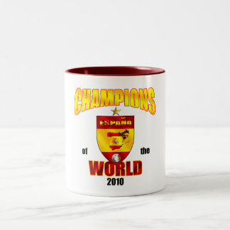 Spain Champions of the World 2010 Two-Tone Coffee Mug