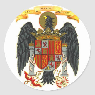 Spain Coat of Arms 1977 Classic Round Sticker