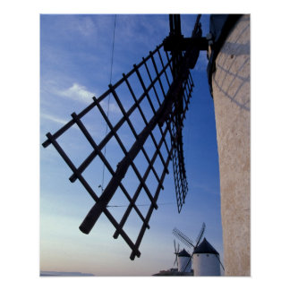 Spain, Consuegra, Castile-La Mancha Windmills Poster