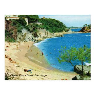 Spain, Costa Brava, San Jorge Postcard