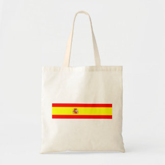 Spain country flag spanish nation symbol budget tote bag