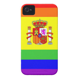 spain country gay proud rainbow flag homosexual iPhone 4 covers