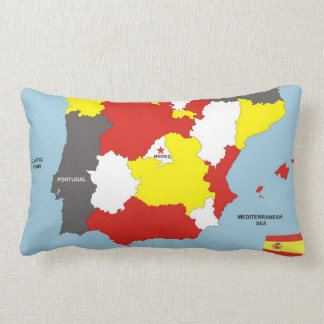 spain country political map flag pillow