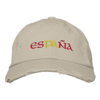 Spain Embroidered Baseball Caps