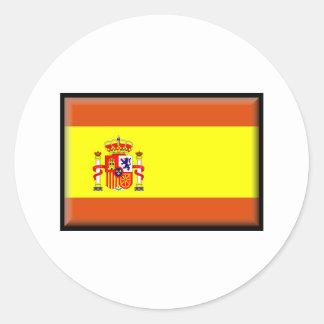 Spain/España Flag Classic Round Sticker