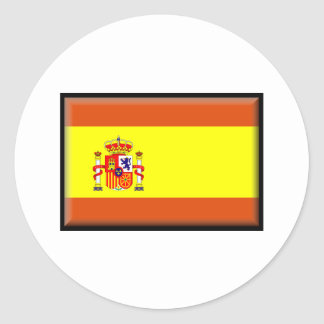 Spain/España Flag Round Sticker