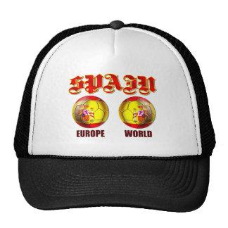 Spain Europe World Spanish flag soccer balls Mesh Hats