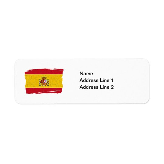 SPAIN FLAG Address Label