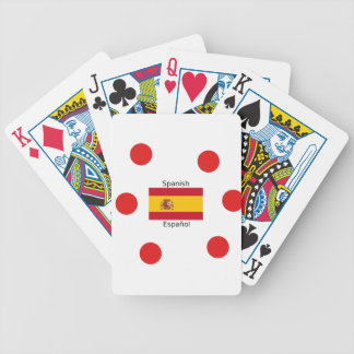 Spain Flag And Spanish Language Design Bicycle Playing Cards