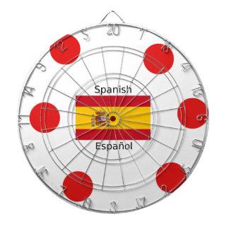 Spain Flag And Spanish Language Design Dartboard
