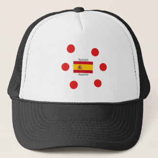 Spain Flag And Spanish Language Design Trucker Hat