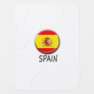 Spain Flag Baby Blanket