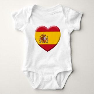 Spain flag baby bodysuit