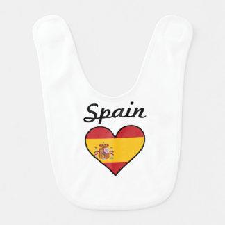 Spain Flag Heart Bib
