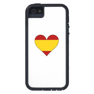Spain Flag Heart Cover For iPhone 5