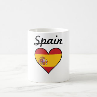 Spain Flag Heart Coffee Mug