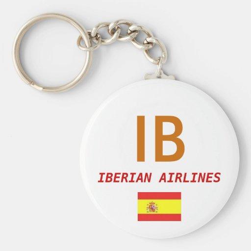 Spain Flag, IB, IBERIAN AIRLINES Key Chains