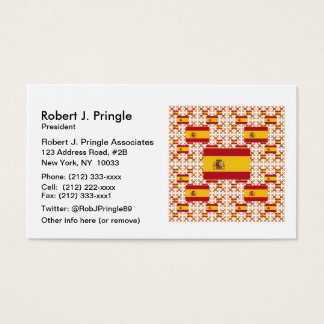 Spain Flag in Multiple Colorful Layers Business Card