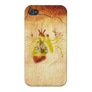 Spain Flag in Real heart iPhone 4 Case