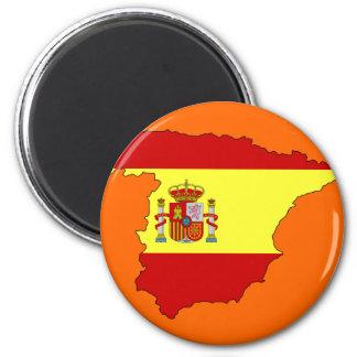 Spain flag map magnet